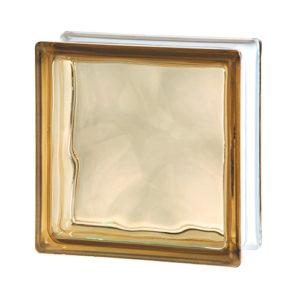 pustak szklany luksfer wave brown chmurka brązowy